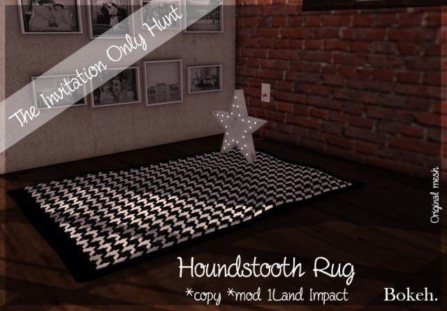 houndstooth rug poster
